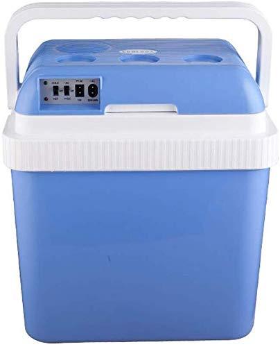FJFSSH Schmuck Geschenkkarton Auto-Kühlraum 24 Liter blau tragbare Mini-Kühlschrank Cooler und Heizung tragbare Mini gekühlter Elektroaufbewahrungsbehälter for Reisen -