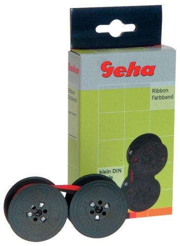 Geha Farbband Seide für Canon, Facit, Sharp Doppelspule, Gruppe 51 S, Maße: 13mm / 6m, Farbe schwarz/rot (Sharp Farbband)