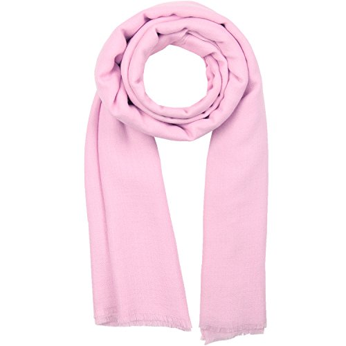 KASHFAB Kashmir Frauen Herren Winter Mode Solide Schal, Wolle Seide stole, Weich Lange Schal, Warm Paschmina Rosa 2 (Frauen Mode Seide)