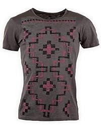 a721d121a182 Best Mountain Tee Shirt imprimé Manches Courtes Homme M Gris