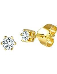 Diamond Line Diamant-Ohrstecker Gold 585 mit 2 Brillianten 0.20 ct. Lupenrein