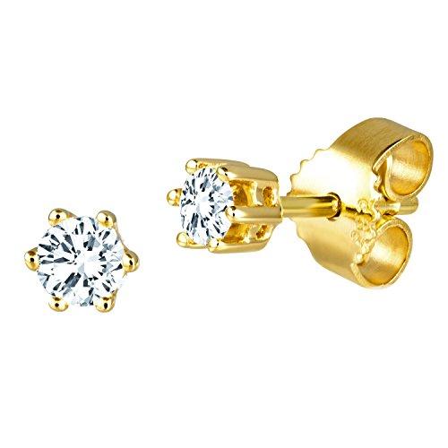 Diamond Line Diamant-Ohrstecker Gelbgold 585 mit 2 Brillianten 0.15 ct. Lupenrein Preisvergleich