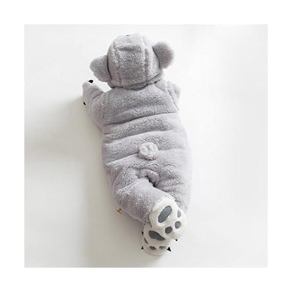 Ropa Bebe Invierno, Fossen Grueso Cálido Mamelucos con Capucha Animal de Dibujos Animados Mono Ropa para Recién Nacido… 5