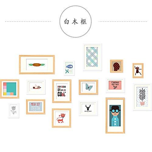 Bilderrahmen Set Hellgelbe Box 1.8 16 Protokolle Box m Bilderrahmen wall minimalistischen modernen Wohnzimmer Restaurant persönliches Portfolio