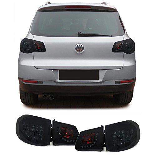 Carparts-Online 29882 LED Klarglas Rückleuchten mit LED Blinker schwarz smoke