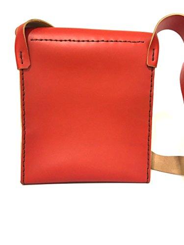 Postina TCH04 cartella in vera pelle borsello made in italy MainApps Rosso