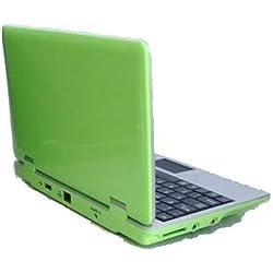 Mini-Laptop, 4GB, 7Zoll, Netbook, Android 4.0(Ice Cream Sandwich OS), mit Webcam für Skype, Ladegerät mit UK-Stecker, kompatibel mit BBC iPlayer/Youtube/Facebook grün
