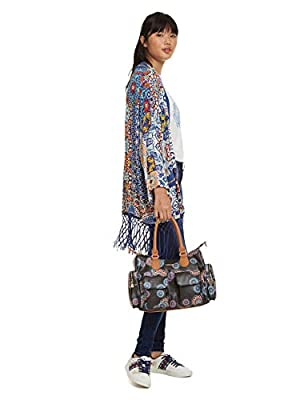 Desigual - Bag Mandri London Women, Shoppers y bolsos de hombro Mujer, Negro, 15.5x25.5x32 cm (B x H T) de Desigual