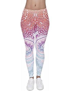 Loomiloo® Leggings für Mädchen und Damen - Beste Qualität mit coolen Motiven - Boho Ibiza Sommer Style - Blickdicht...