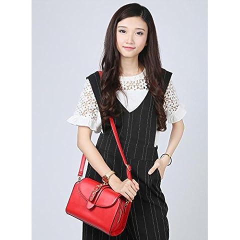 GQQ NUEVOS bolsos de hombro bolsos moda Dacron PU para la parte comercial y en el trabajo hasta 5 L GQ bolso @ , red