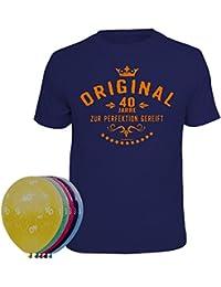 Geschenkset T-Shirt + 5 Luftballons zum 40. Geburtstag