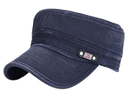 la-vogue-chapeau-casquette-visiere-delavee-homme-femme-coton-mode-militaire-bleu