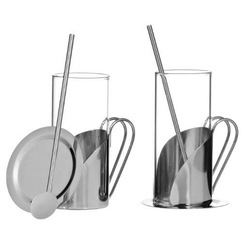 Premier Housewares Aroma Irish Coffee Set, Stainless Steel - 6 Pieces