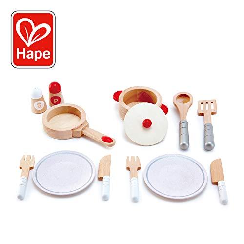Hape- Jeu d'Imitation en Bois-Cuisine-Dinette, E3150, Beige