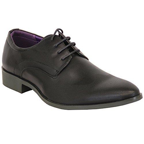 hommes chaussures habillées ALLURE cuir italien pointus à lacets décontracté Mode Créateur