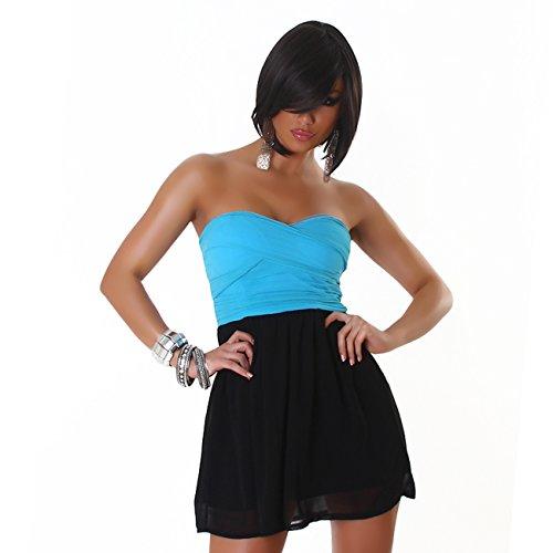 Fashion - Robe - Cocktail - Uni - Sans Manche - Femme Turquoise