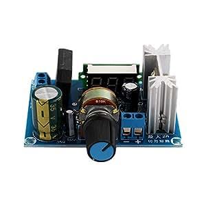 Obsidian tension réglable LM317 Régulateur abaisseur module d'alimentation avec LED compteur