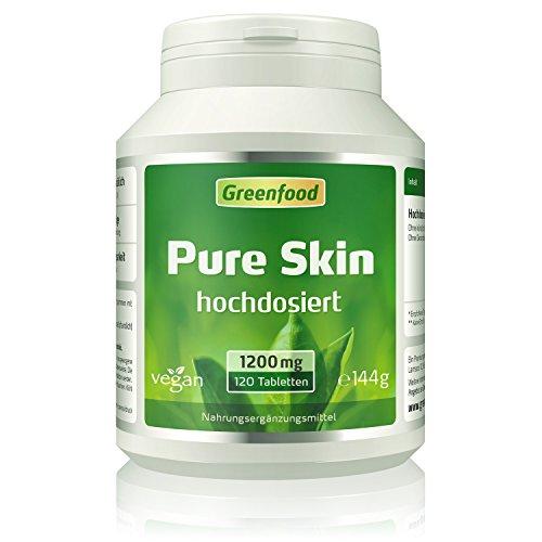 Greenfood Pure Skin aktiv, hochdosiert, 120 Tabletten Test