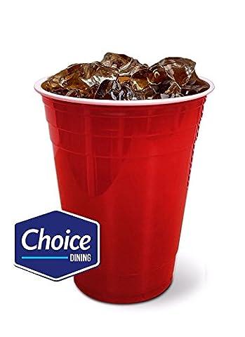 Rouge American gobelets jetables plastique Excellent pour la bière Pong 453,6gram 470ml 50/Lot de 100, 50 pack