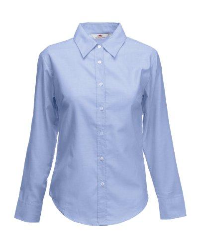 Fruit Of The Loom T-Shirt L/S Bleu - Bleu Oxford