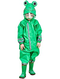 Kinder Regenanzug Wasserdicht Regen-Overall Regenmantel - Jungen Mädchen Regenkleidung Regenjacke Softshelljacke Regenponcho Outdoorjacke für Schule,Fussball,Wandern