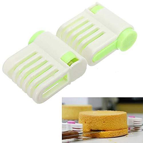 Runfon Portable DIY Cake Bread Cutter Leveler 5 Layers Slicer Cutting Fixator Tools (Random Colour) 100% brand new and high quality