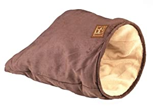 Cat Play Bag, Cat Bag, Cat Bed - Brown Suede from TIA Pet World
