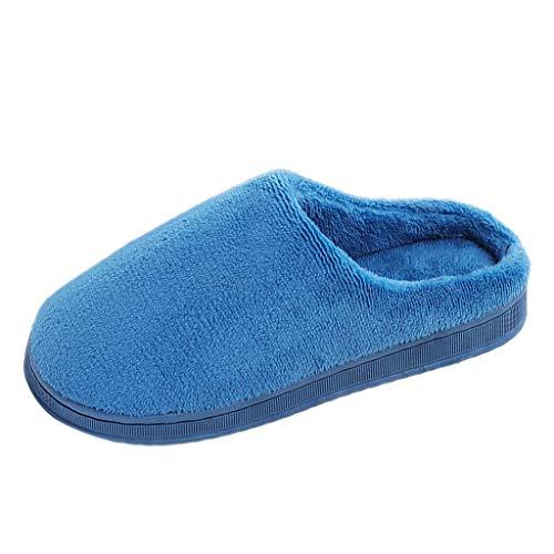 LSAltd Damen Herren Paare Solide Flock Warm rutschfeste Hausschuhe Indoor Schuhe