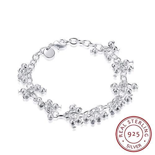 Imagen de zhouyf® pulseras fine jewelry 925 sterling silver bracelets women sand grapes beads bracelet for best friend gift