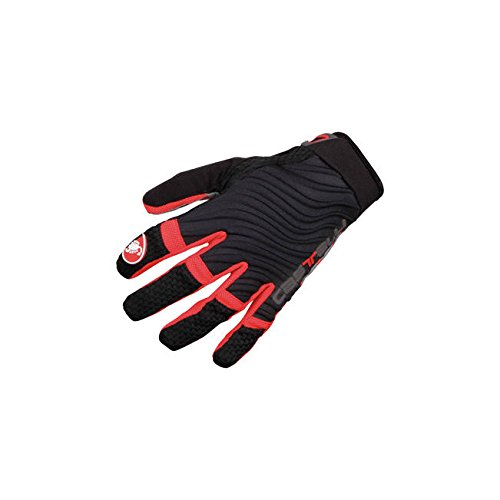 CASTELLI   CW 6 0 CROSS GLOVE  COLOR ROJO NEGRO  TALLA L