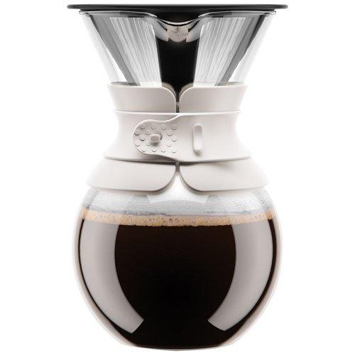 Bodum pour over Kaffeebereiter (Permanentfilter, Spülmaschinengeeignet, 1,0 liters) cremefarben