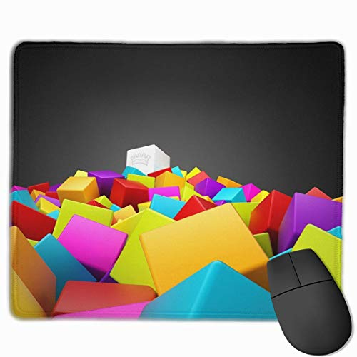ASKSSD Mouse Pad Awesome Ace of Spades Colorful Rectangle Non-Slip 9.8in11.8 in Personalized Designs Gaming Rubber Mousepad Stitched Edges Mouse Mat