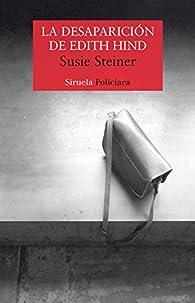 La desaparición de Edith Hind par Susie Steiner