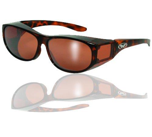 Escort Safety Glasses Over-Prescription Most Prescription Eyewear Driving Mirror Lenses Tortoise Print Camo Frame by Global Vision Eyewear