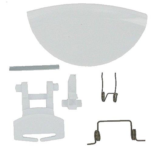 spares2go Kunststoff Tür Griff Hebel für Servis Waschmaschinen (weiß) 6160 Kit