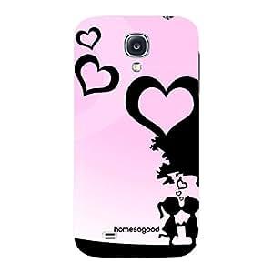 Valentine HomeSoGood Breathing Pink Love 3D Mobile Case For Samsung S4 ( Back Cover)