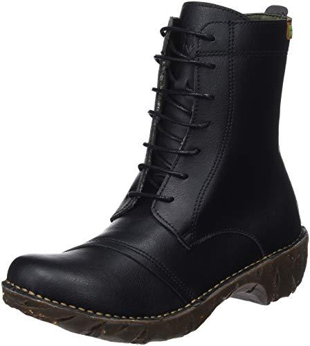 El Naturalista Damen Ng57t Vegan Combat Boots Schwarz Black, 41 EU