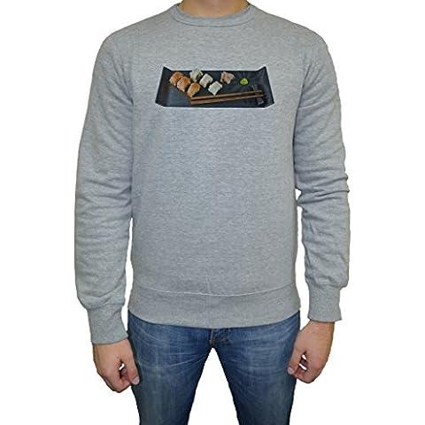 Sushi Hombre Sudadera Jersey Pullover Gris Todos Los Tamaños | Men's Sweatshirt Jumper Pullover
