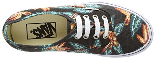 Vans Unisex-Erwachsene Authentic Outdoor Fitnessschuhe Black (Vintage Aloha - Black/True White)