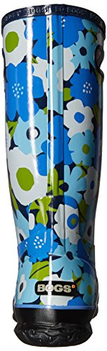 Bogs  Spring Flower, Work Wellingtons femme Navy Multi