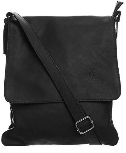 Big Handbag Shop - Borsa a tracolla donna (Black (KL219))