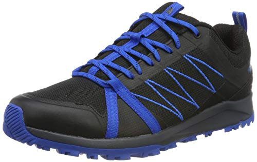 THE NORTH FACE Herren M Litewave Fastpack II Trekking- & Wanderhalbschuhe, Schwarz (TNF Black/Bomber Blue Y9z), 45 EU