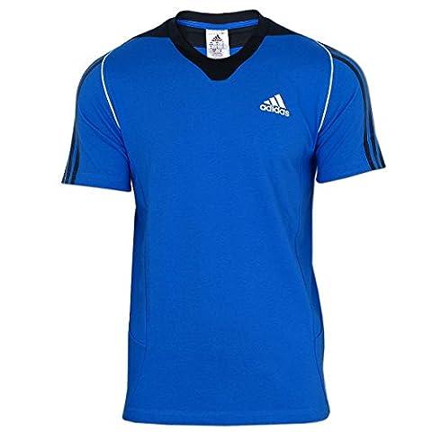 adidas Herren Shirt Präsentations Tee (blau-schwarz, 52 (L)