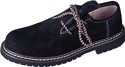 Almwerk Herren Trachtenschuh aus echtem Leder in verschiedenen Farben, Schuhgröße:EUR 43, Farbe:Schwarz Weiß