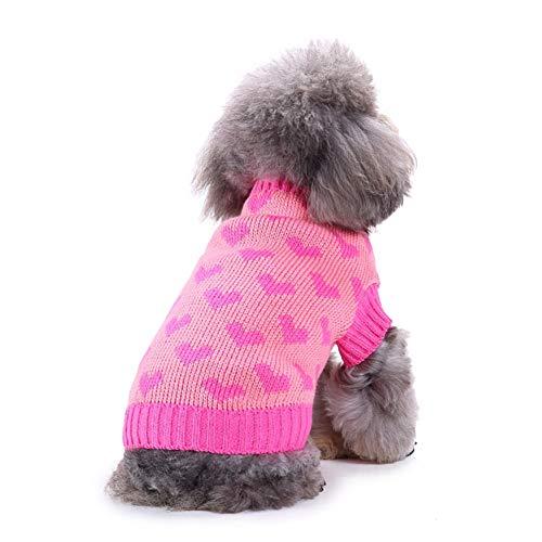 HuhuswwBin Hunde-Sweatshirts für Herbst und Winter, süßes Haustier Hund Welpen Liebe Herz Muster Hexen Sweatshirt Hundekostüm (Liebe Coat Rack)