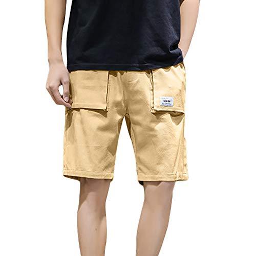 True Religion Mädchen Jeans (GreatestPAK Herren Sporthosen Sommer Freizeit Lose Einfarbig Strandshorts Übergröße,Khaki,EU:XS(Tag:M))