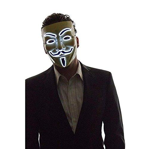 lzn LED Beleuchtung Maske LED Luminous Blinkende Gesichtsmaske Anonym Halloween Cosplay Kost¨¹m Masken ()