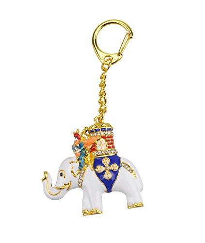 juanxian Feng Shui Power Elefant mit Warrior Schlüsselanhänger w mit Rotem mxsabrina Armband w2344 -