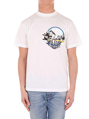 Prada UJN400 T-Shirt Harren Weiß S (Prada Herren Shirt)