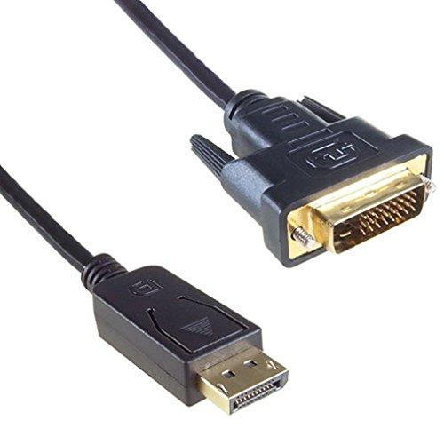 Magic Clover 1,8m DisplayPort Stecker Buchse auf DVI-D 24+ 1Stecker auf Stecker Stecker Digital Video-Kabel UK
